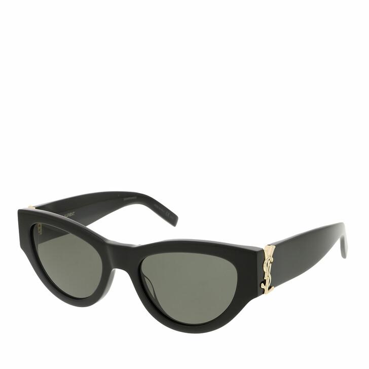 sunglasses, Saint Laurent, SL M94-001 53 Sunglass Woman Acetate Black-Black-Grey