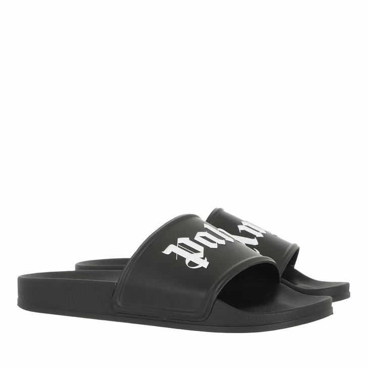 shoes, Palm Angels, Pool Slider Black White Black White