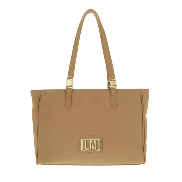 bags, Love Moschino, Borsa Nylon  Beige