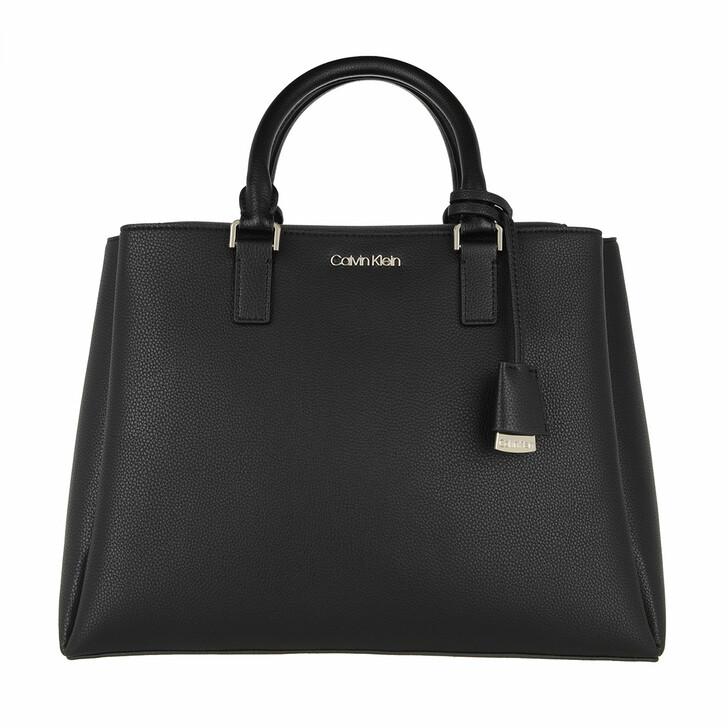 Handtasche, Calvin Klein, Tote Medium Black