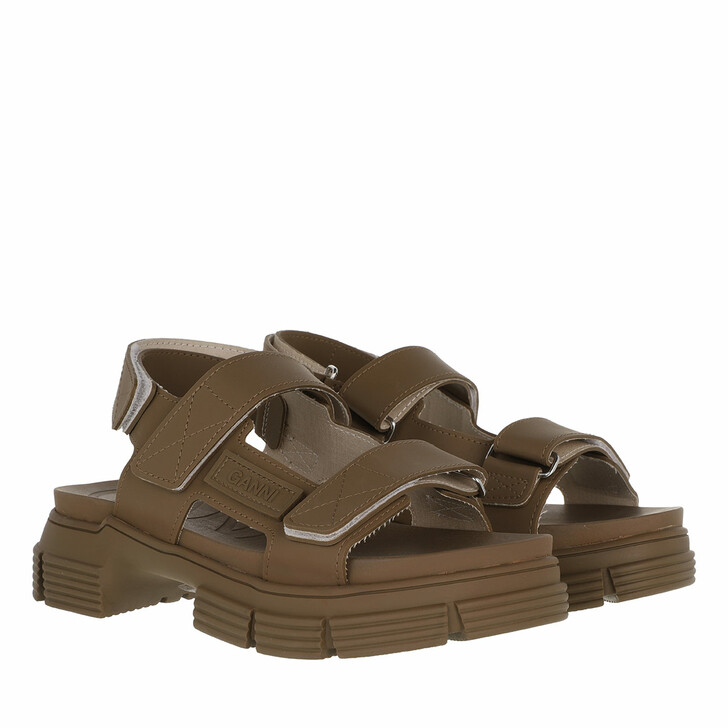 shoes, GANNI, Rubber Sandal Fossil