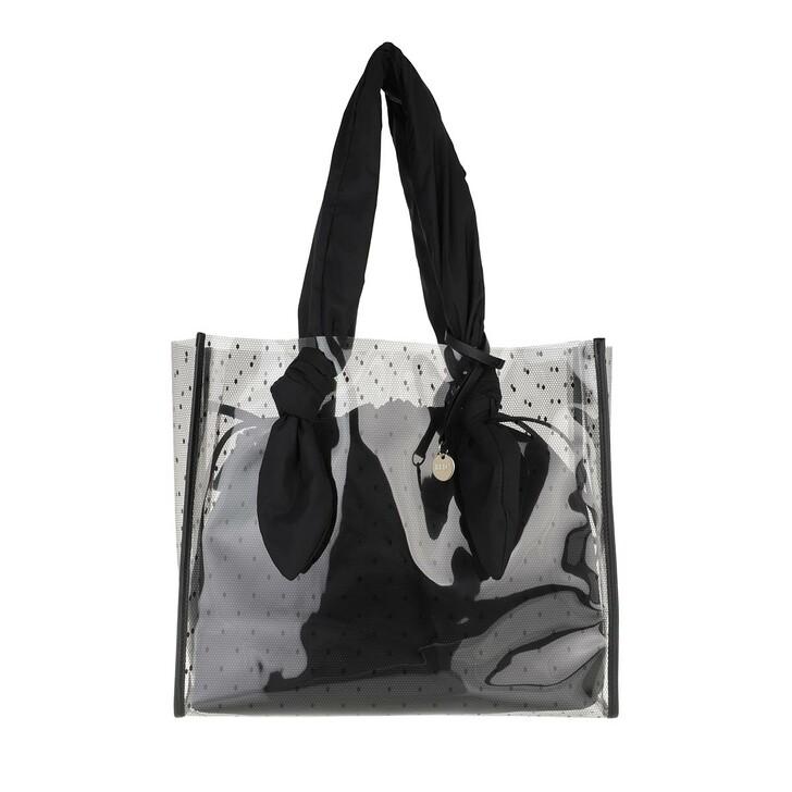 bags, Red Valentino, Tote Transparent Black