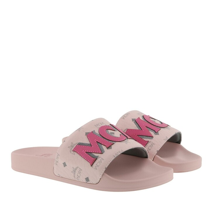 Schuh, MCM, Visetos Patch Slide Powder Pink