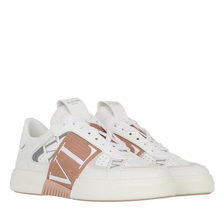 shoes, Valentino Garavani, VLTN Low Top Sneakers Calf Leather White