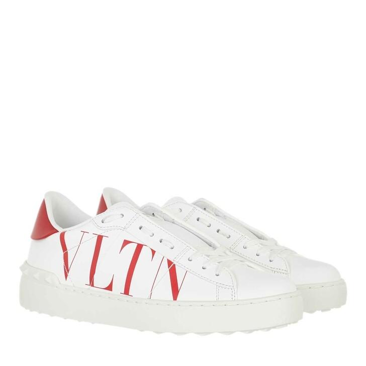 shoes, Valentino Garavani, Rockstud VLTN Open Sneakers White Red