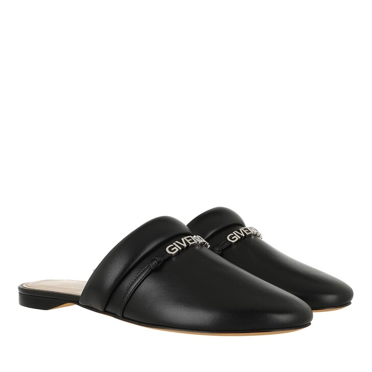 Schuh, Givenchy, Logo Mules Slipper Leather Black