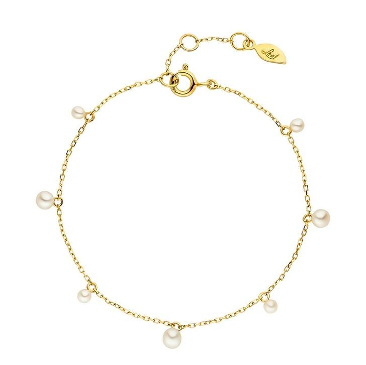 Armreif, Leaf, Rain Drop Bracelet Gold