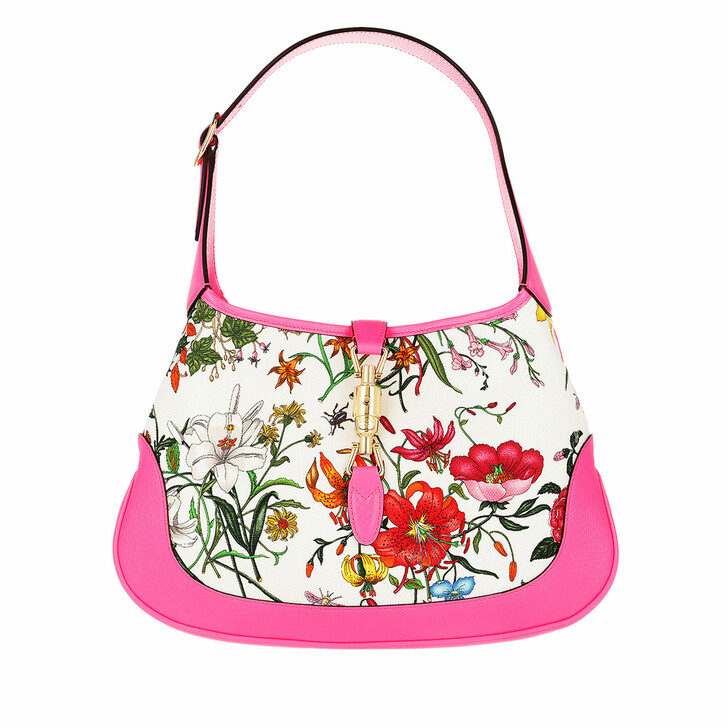 Handtasche, Gucci, Jackie Hobo Bag Medium Flora/Fuchsia
