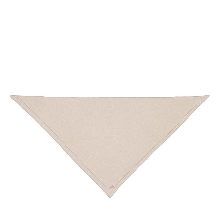 scarves, Lala Berlin, Triangle Solid Logo M Dune Beige
