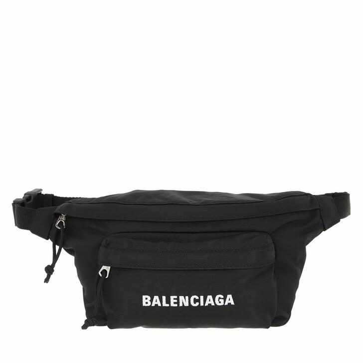 bags, Balenciaga, Belt Bag Black White