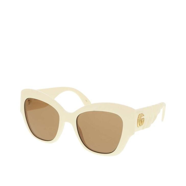 sunglasses, Gucci, GG0808S-002 53 Sunglass WOMAN INJECTION Ivory