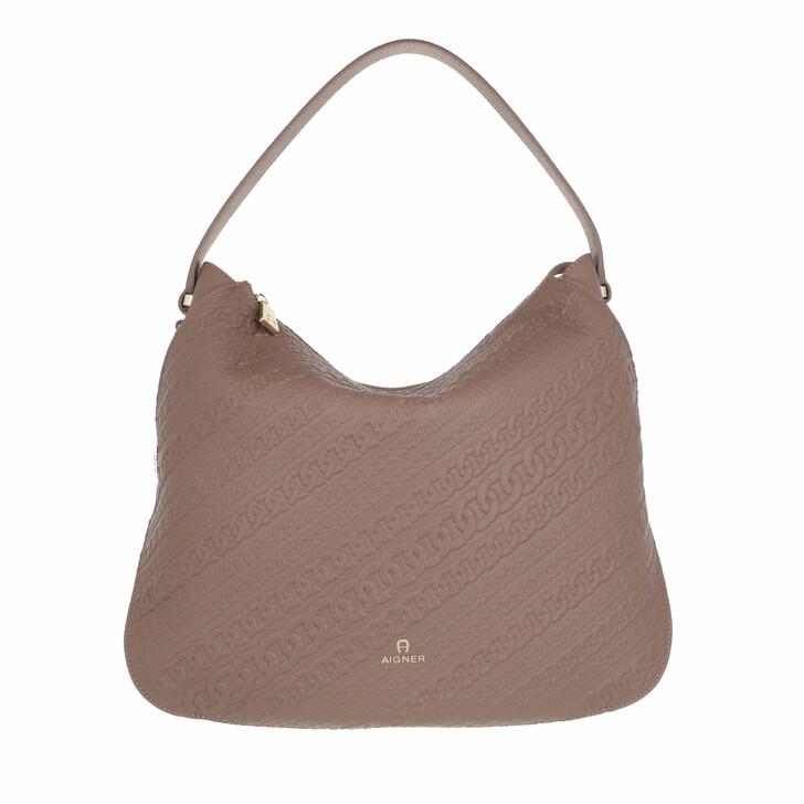 bags, AIGNER, Milano Hobo Bag Mushroom Brown