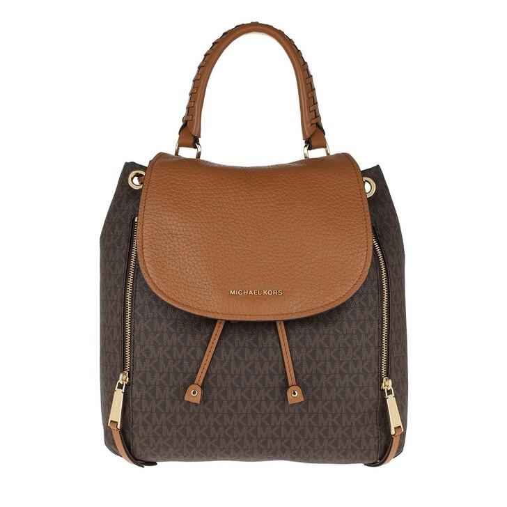 Reisetasche, MICHAEL Michael Kors, Viv Lg Backpack Brown/Acorn