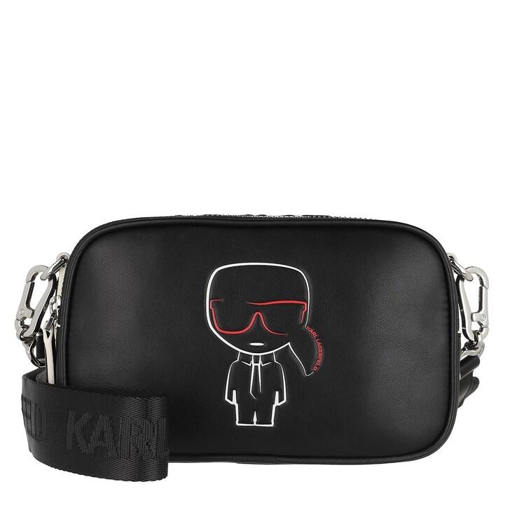 bags, Karl Lagerfeld, Ikonik Outline Camera Bag Black
