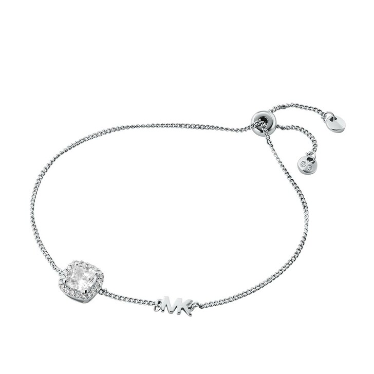 Armreif, Michael Kors, Brilliance Sterling Silver Cushion Cut Bracelet Silver