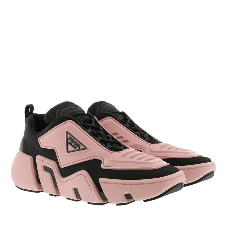 Schuh, Prada, Technical Fabric Sneakers Black Pink