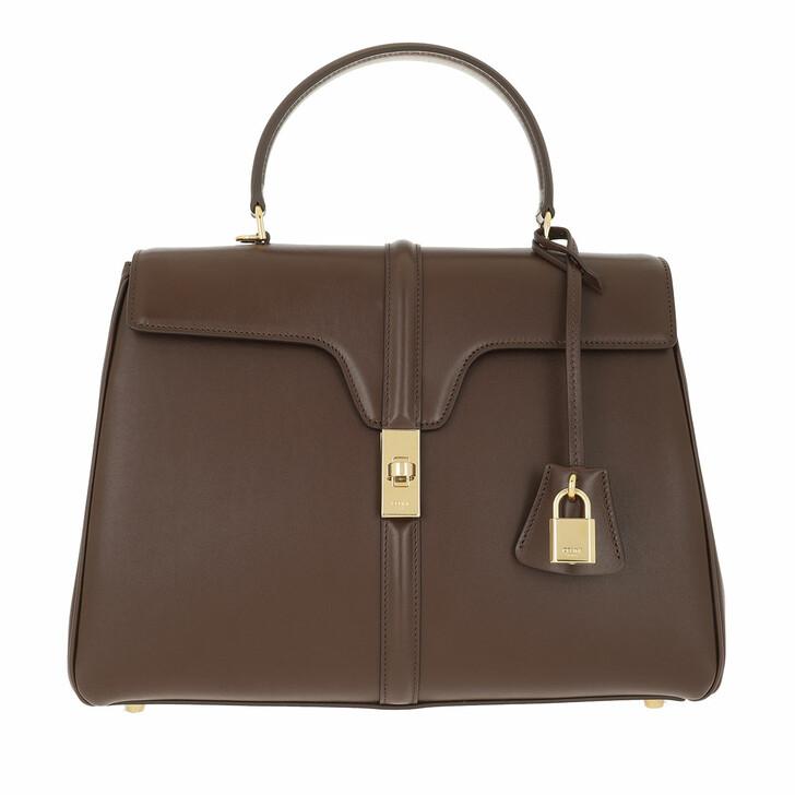 Handtasche, Celine, Medium 16 Bag Leather Brown