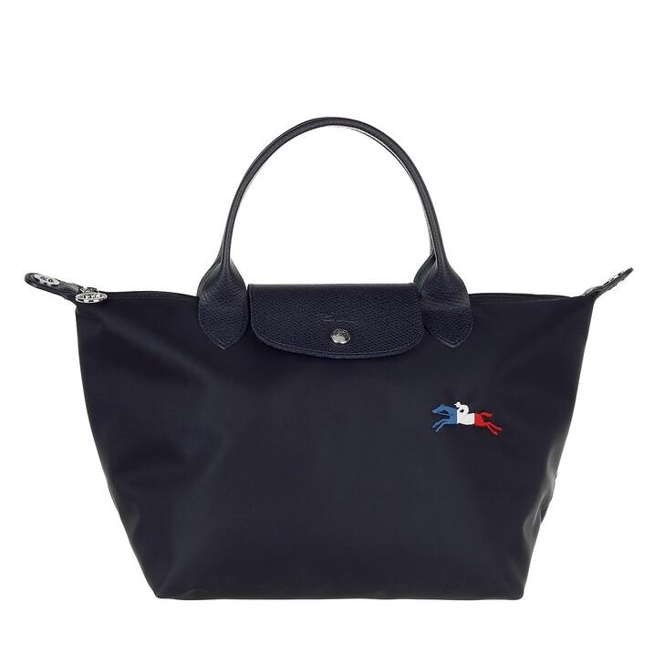 bags, Longchamp, Le Pliage Très Paris Handbag  Marine