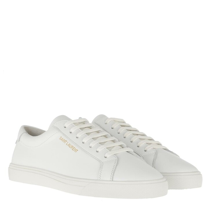 Schuh, Saint Laurent, Andy Sneakers Leather Optic White