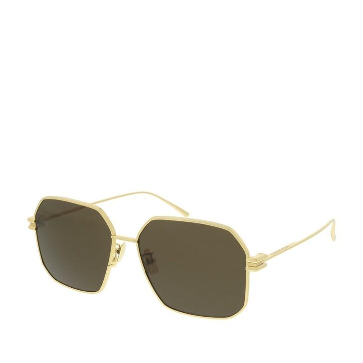 sunglasses, Bottega Veneta, BV1047S-002 59 Sunglasses Gold-Gold-Brown