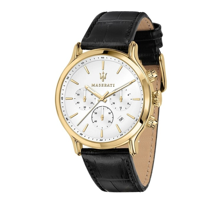 Uhr, Maserati, Watch Epoca 42mm Yellow Gold