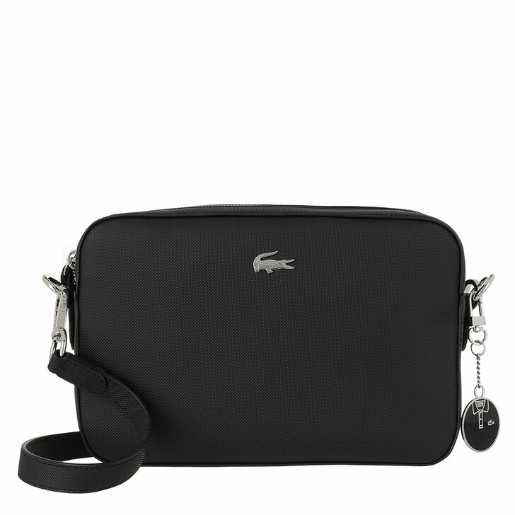 bags, Lacoste, Square Crossover Bag Black