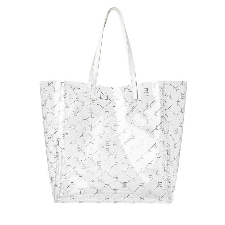 Handtasche, Stella McCartney, Monogram Shopper M White
