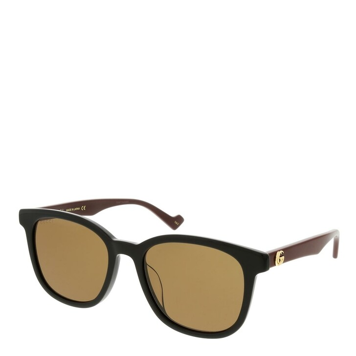 sunglasses, Gucci, GG1001SK-002 55 Sunglass Woman Acetate Black-Brown-Brown