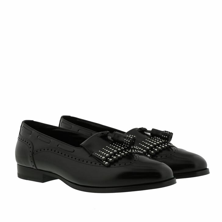 Schuh, Celine, Abingdon Studded Slippers Calfskin Black