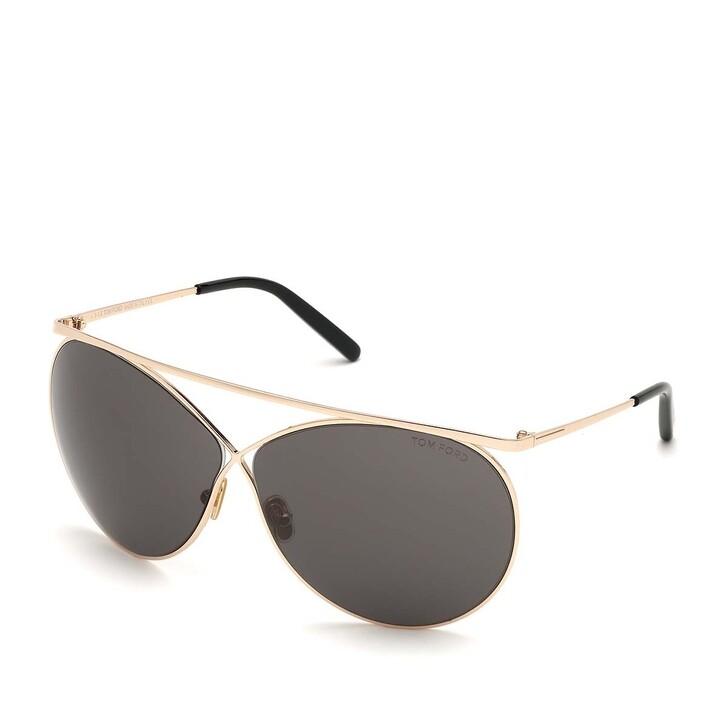 Sonnenbrille, Tom Ford, Women Metal Sunglasses FT0761 Rose Gold/Grey