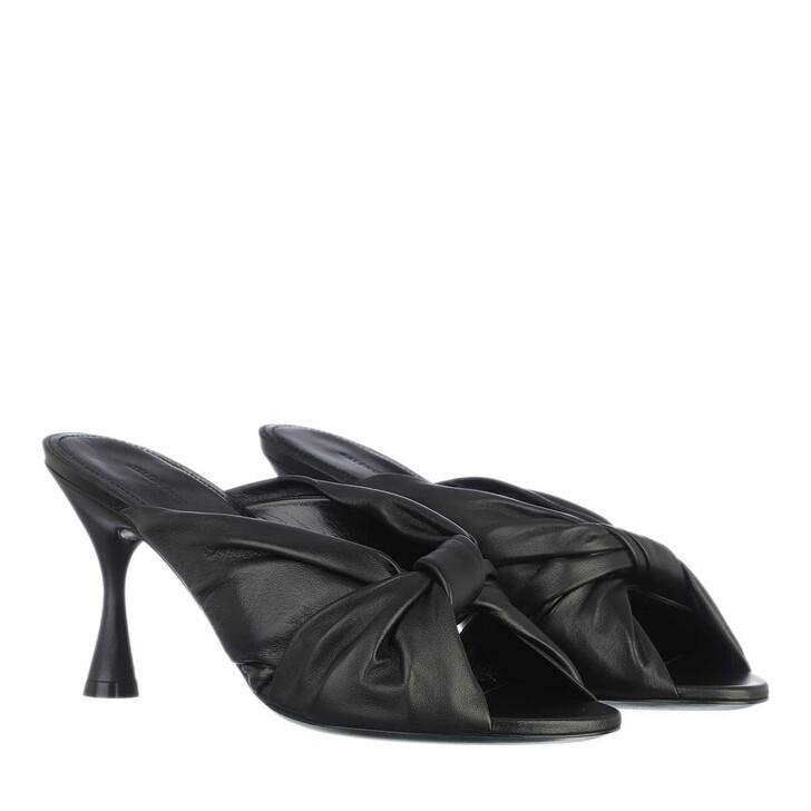shoes, Balenciaga, Drapy Sandal Leather Black