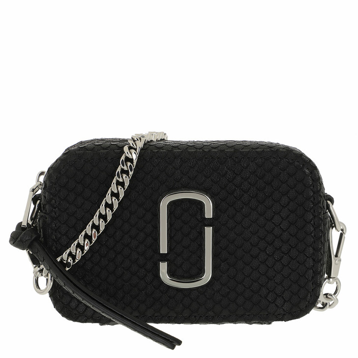 bags, Marc Jacobs, The Softshot Chain Crossbody Bag Leather Black