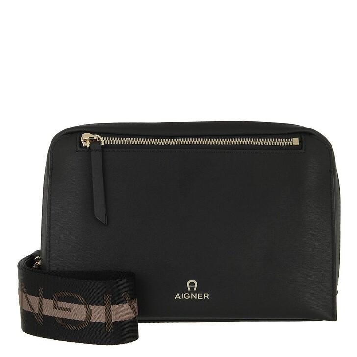 bags, AIGNER, Pisa Crossbody Bag Black