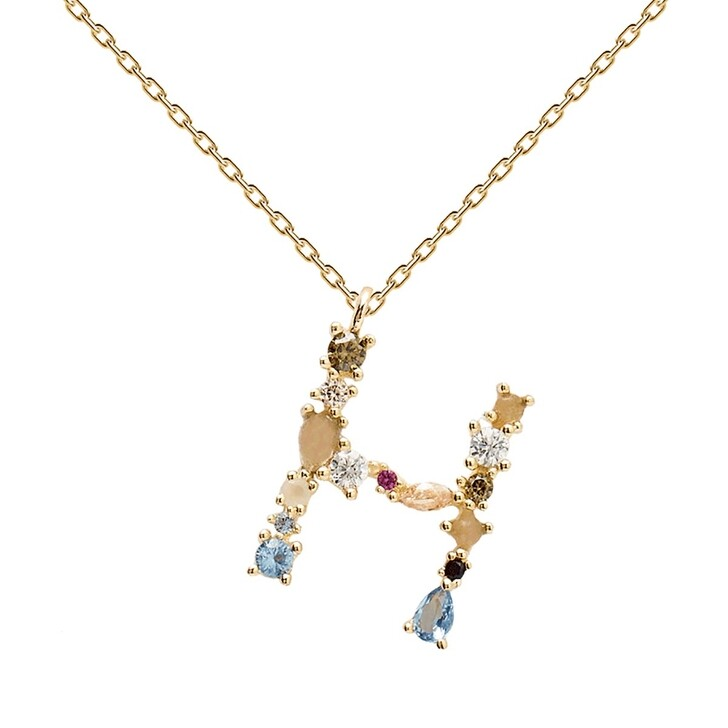 necklaces, PDPAOLA, H Necklace Yellow Gold