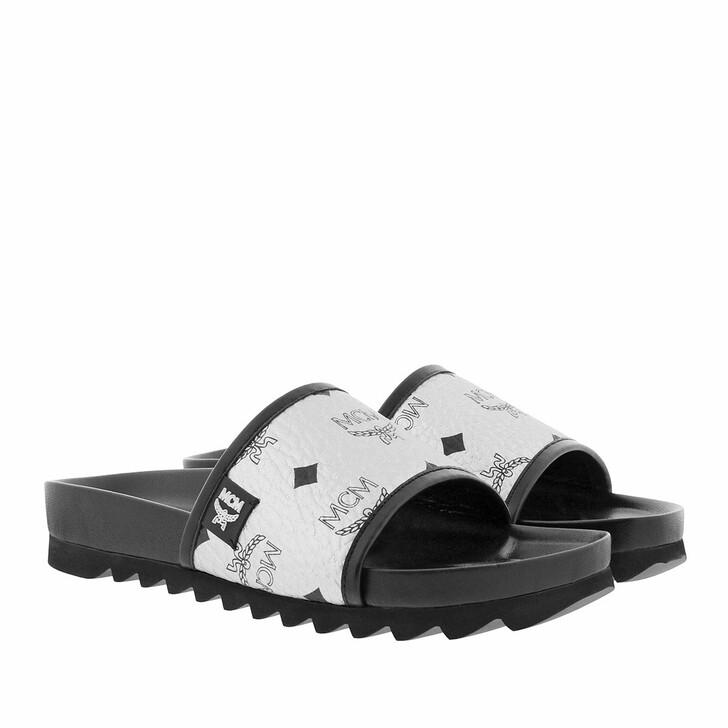 shoes, MCM, W Visetos Slide Silver