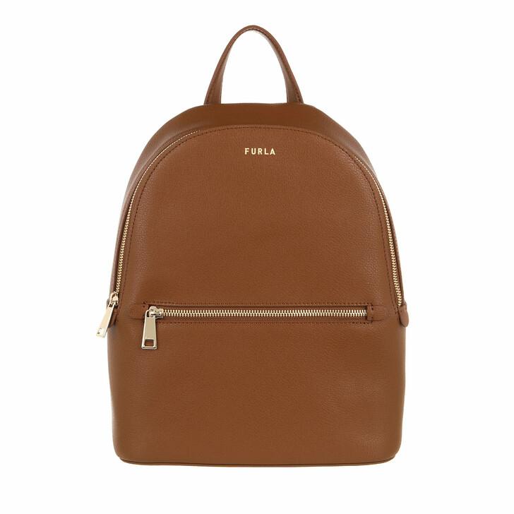 bags, Furla, Furla Libera M Backpack Cognac H