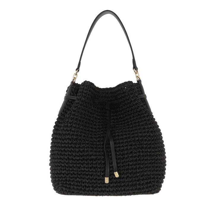 Handtasche, Lauren Ralph Lauren, Debby Drawstring Medium Black/Black