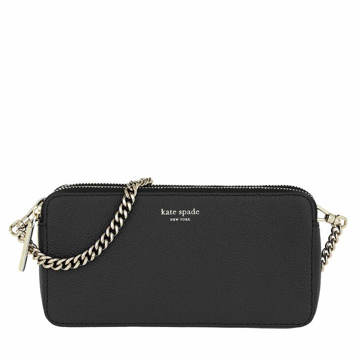 Handtasche, Kate Spade New York, Margaux Double Zip Mini Crossbody Bag Black