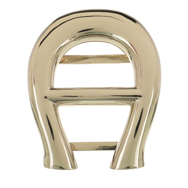 Schal, AIGNER, Logo Scarf Buckle Gold