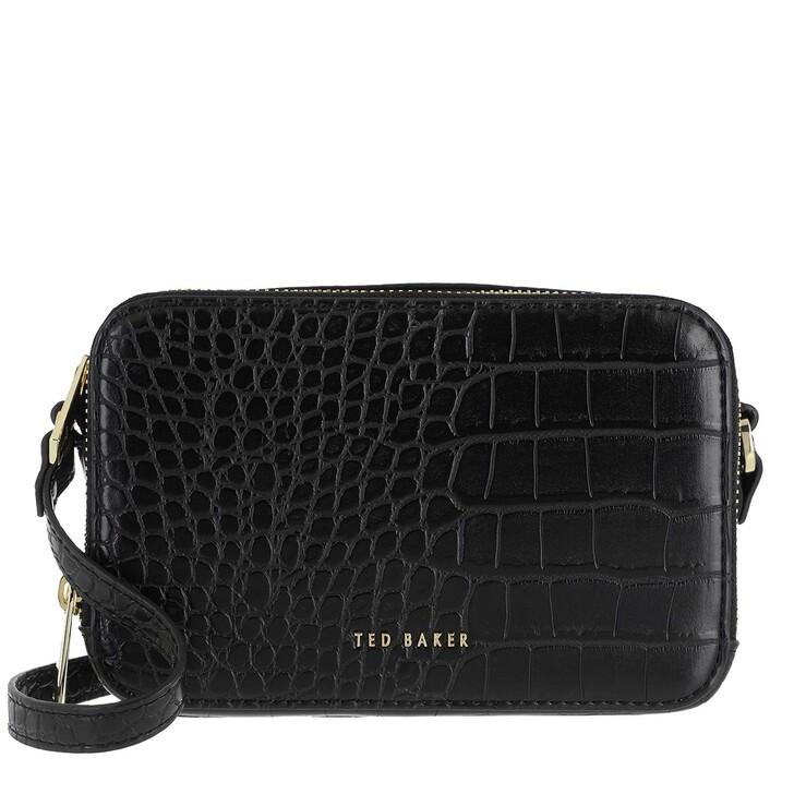 bags, Ted Baker, Stina Double Zip Mini Camera Bag Black