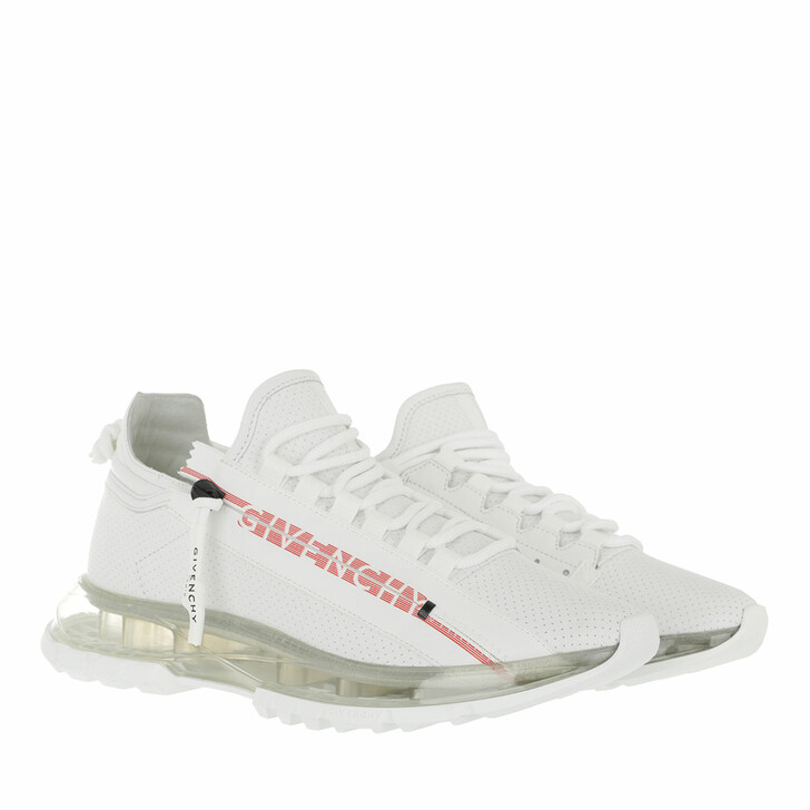 Schuh, Givenchy, Spectre Low Runner Sneakers With Zip White Red