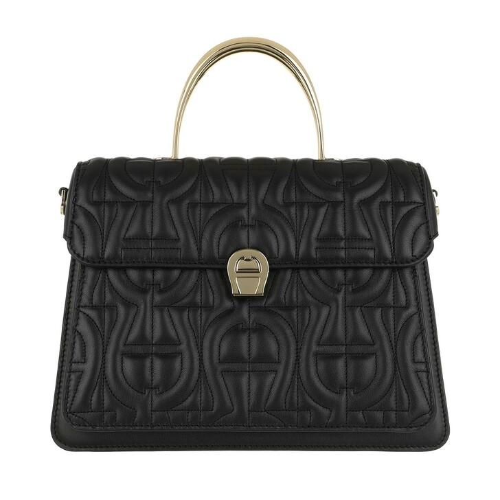 Handtasche, AIGNER, Genoveva Handle Bag Black