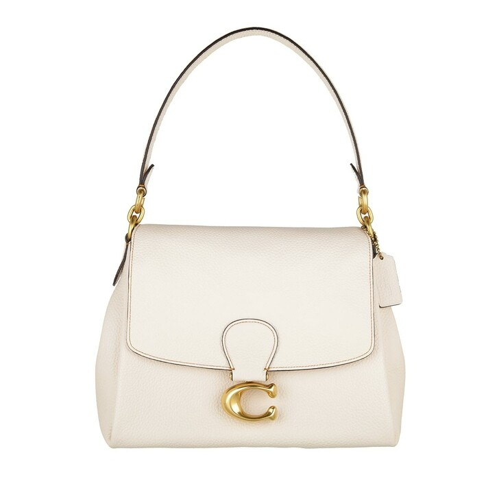 bags, Coach, Soft Pebble Leather May Shoulderbag Chalk