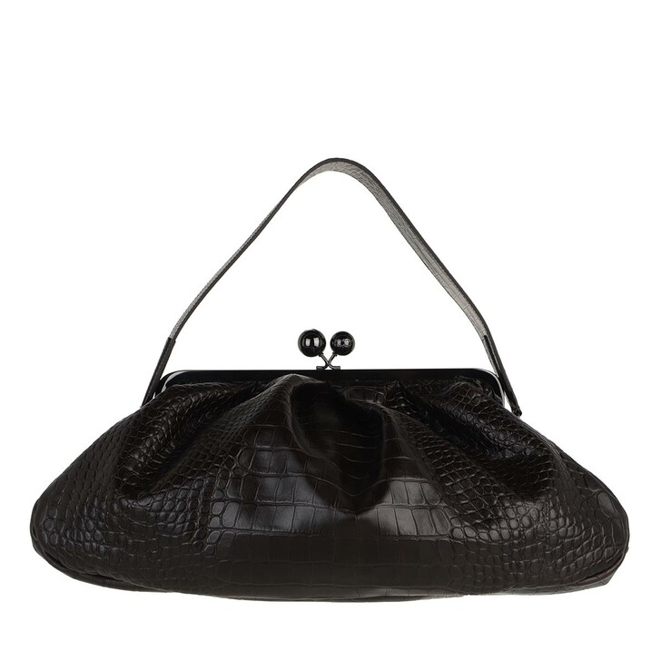 bags, WEEKEND Max Mara, Adelio Tote Bag Dark Brown