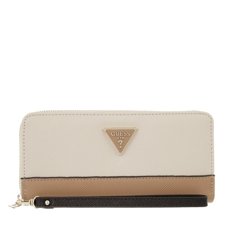wallets, Guess, Noelle Slg Large Zip Around Natural Multi