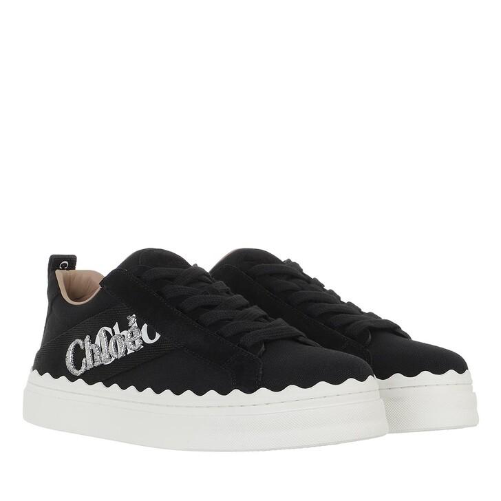 shoes, Chloé, Lauren Low Top Sneakers Canvas Black