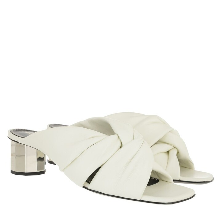 Schuh, Proenza Schouler, Heeled Mule Leather Osso Silver