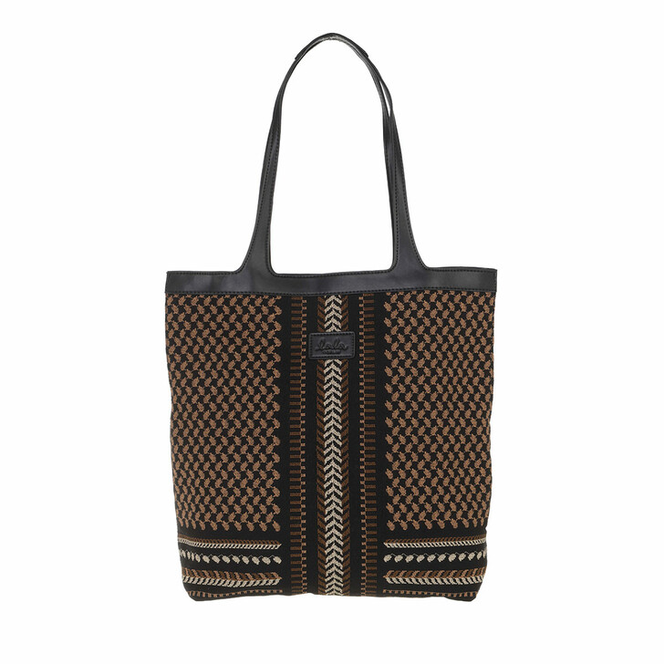 bags, Lala Berlin, Tote Carmela X-Stitch Black X-Stitch