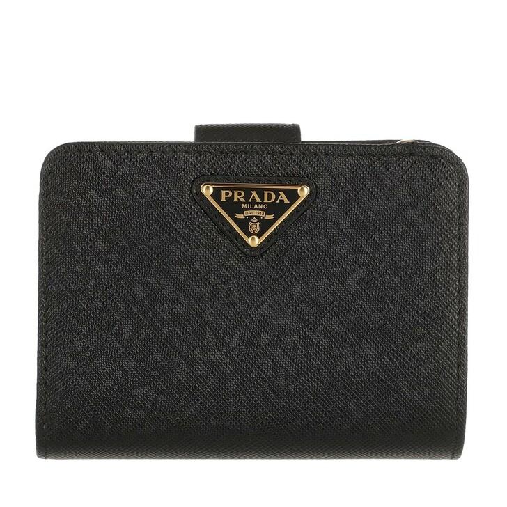 Geldbörse, Prada, Fold Wallet Leather Black