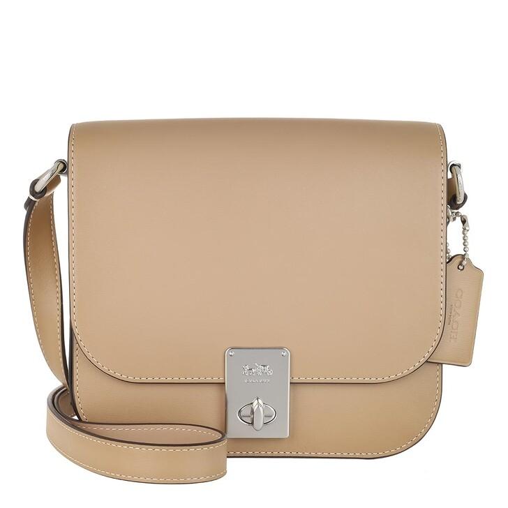Handtasche, Coach, Colorblock Gussets Hutton Saddle Bag Lh/Taupe Multi